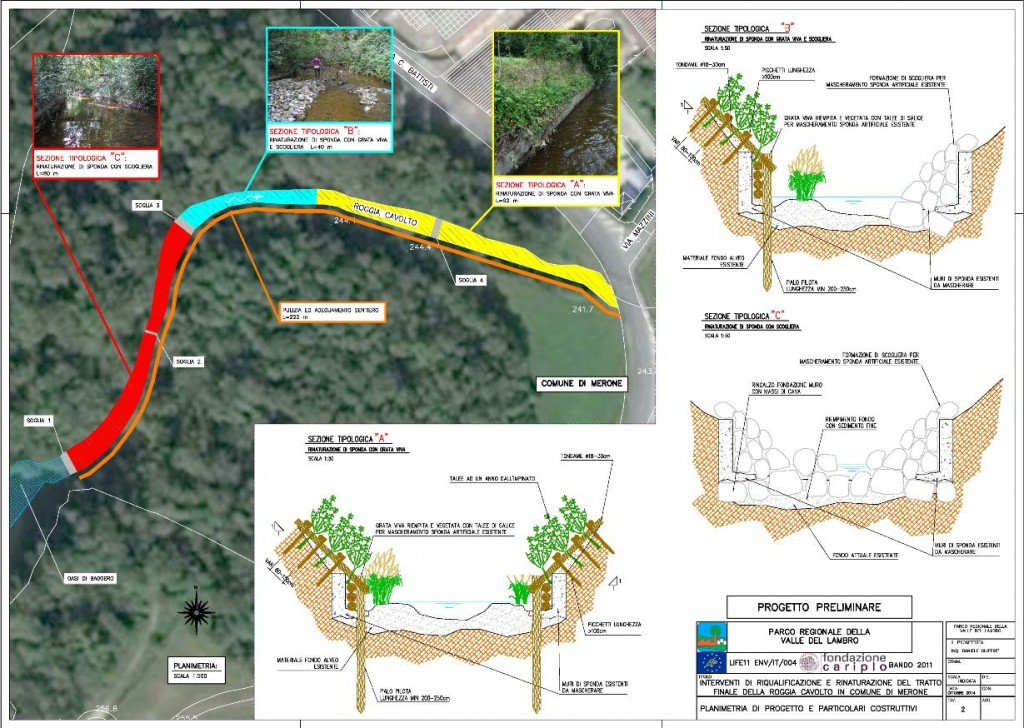TAV 2 - Planimetria di progetto e particolari costruttivi